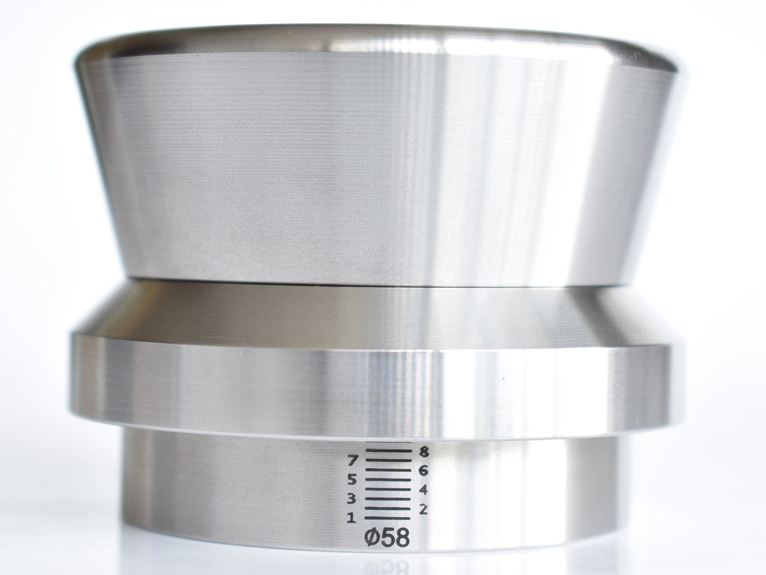 Espresso Level Tamper Coffee Palm Tamper in Stainless steel, heavy 58mm weight is 1.2 kilogram(2.71 LBS) by [JOEFREX]