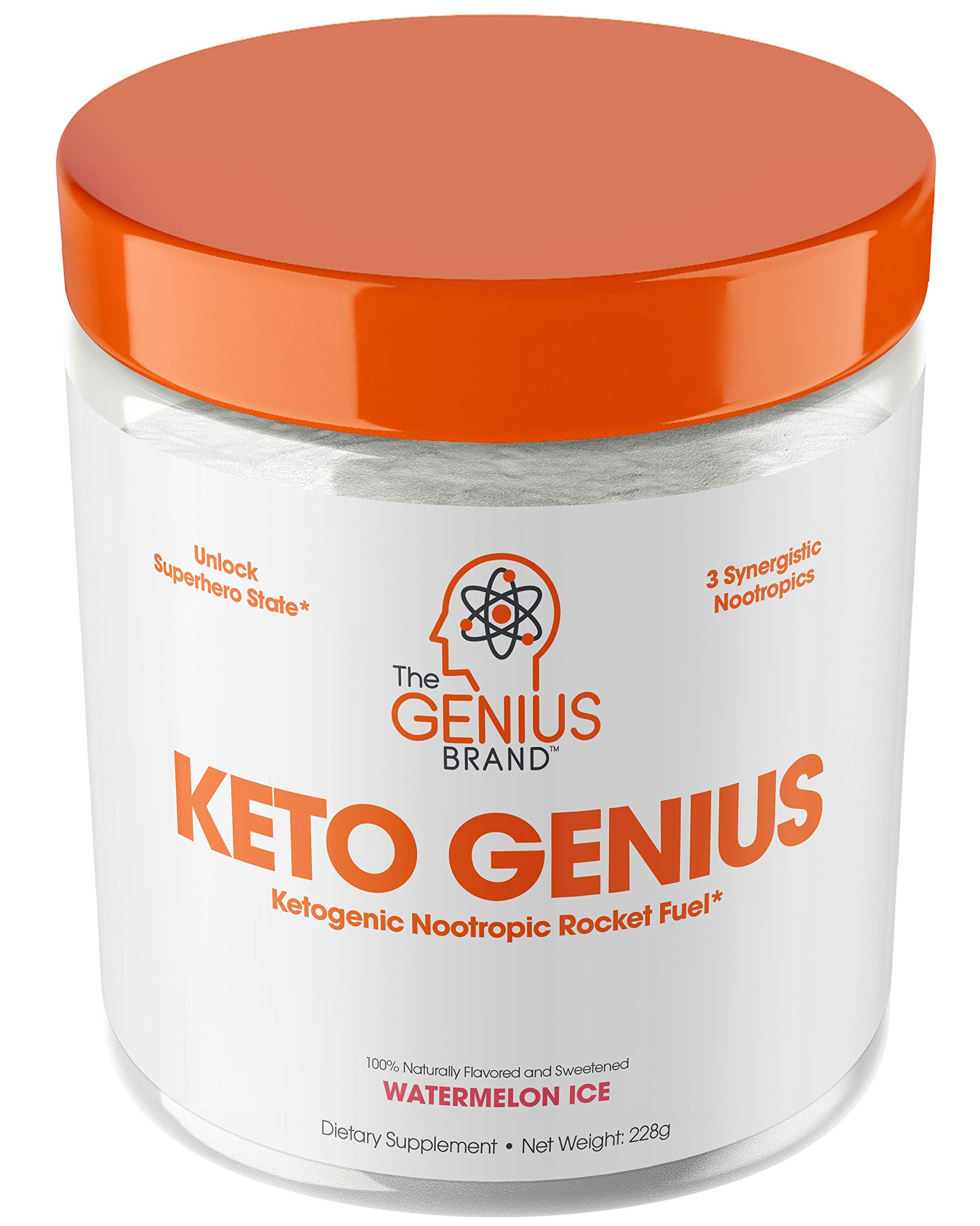 Keto Genius (BHB Exogenous Ketones + Nootropics) - Ketogenic Energy & Focus Supplement - Perfect Nootropic Brain Fuel to Spark Ketosis & Boost Clarity - Pure Ketone Drink Powder w/Alpha GPC -15sv by The Genius Brand