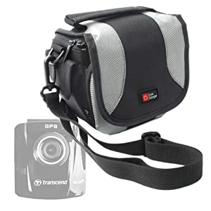DURAGADGET Lightweight & Ultra-Portable Carry Case - Suitable for Transcend 220/200 / 100 16GB Dash Cam and DrivePro 520 32GB Dash Cam - with Padded, Compartmentalized Interior and Shoulder Strap