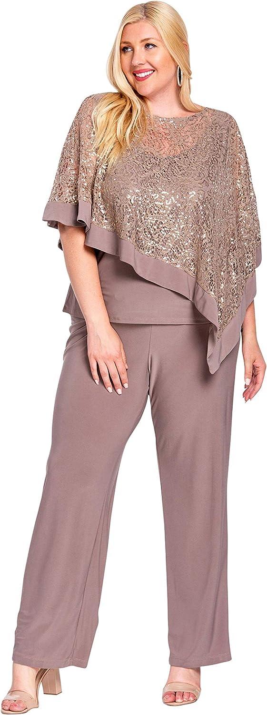 R&M Richards Formal Poncho Pant Suit