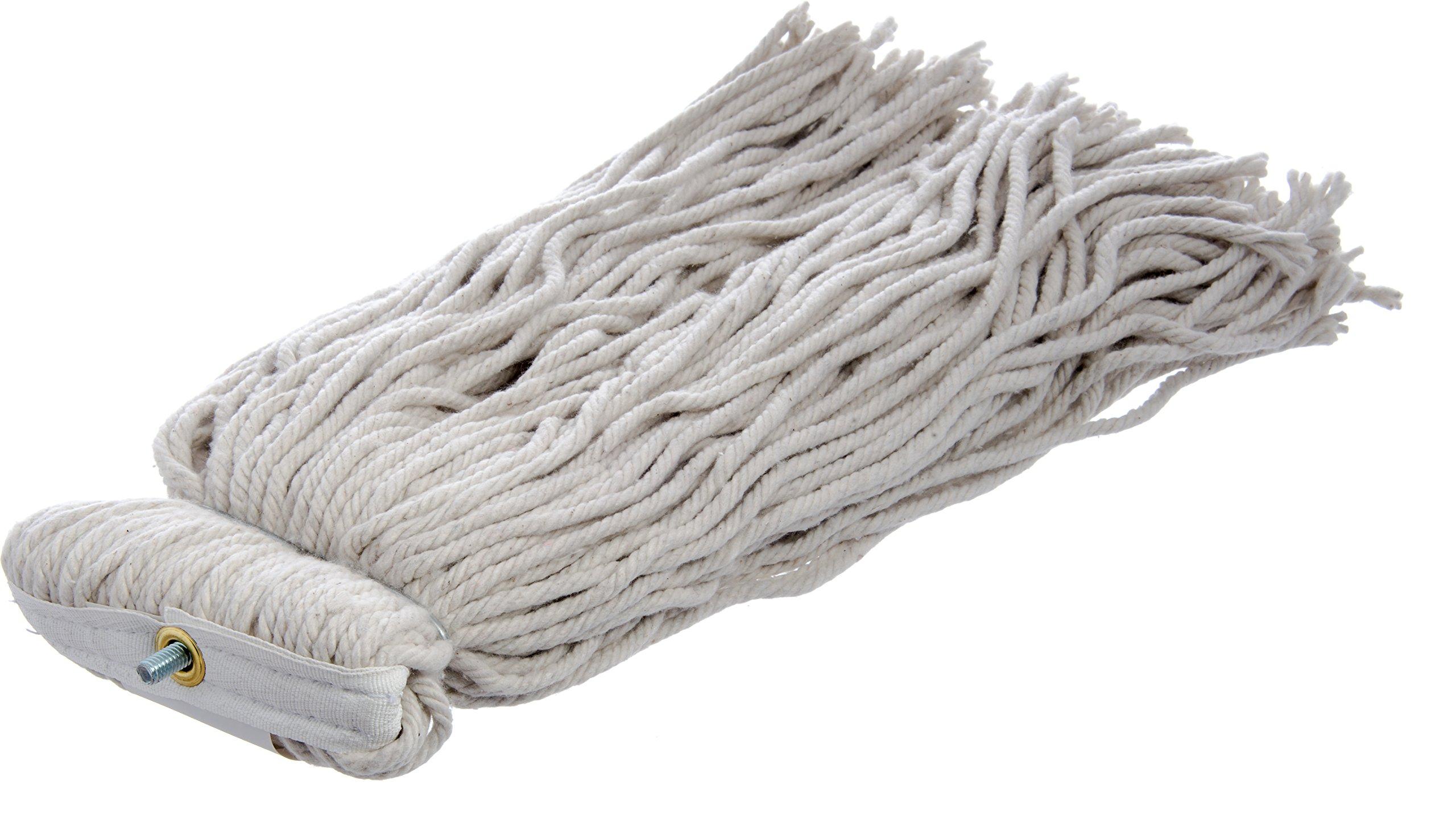 Carlisle 369024C00 Flo-Pac Kwik-On #24 Cotton Screw Top Cut-End Wet Mop, 18'' Length (Pack of 12) by Carlisle (Image #2)
