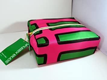 ab96cb69fee0 Amazon.com   Sonia Kashuk Stand and Stow Cosmetic Bag Stripe   Beauty