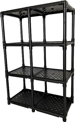 Tool Holder Storage Shelf Shoe Storage Rack DIY Variety Random Assembling Support in The Middle, Black