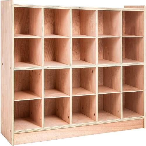 Happybuy Cubby Wooden Storage Unit 20 Cubby Storage Unit Classroom 30 Inch High Plywood Wooden Cubbie