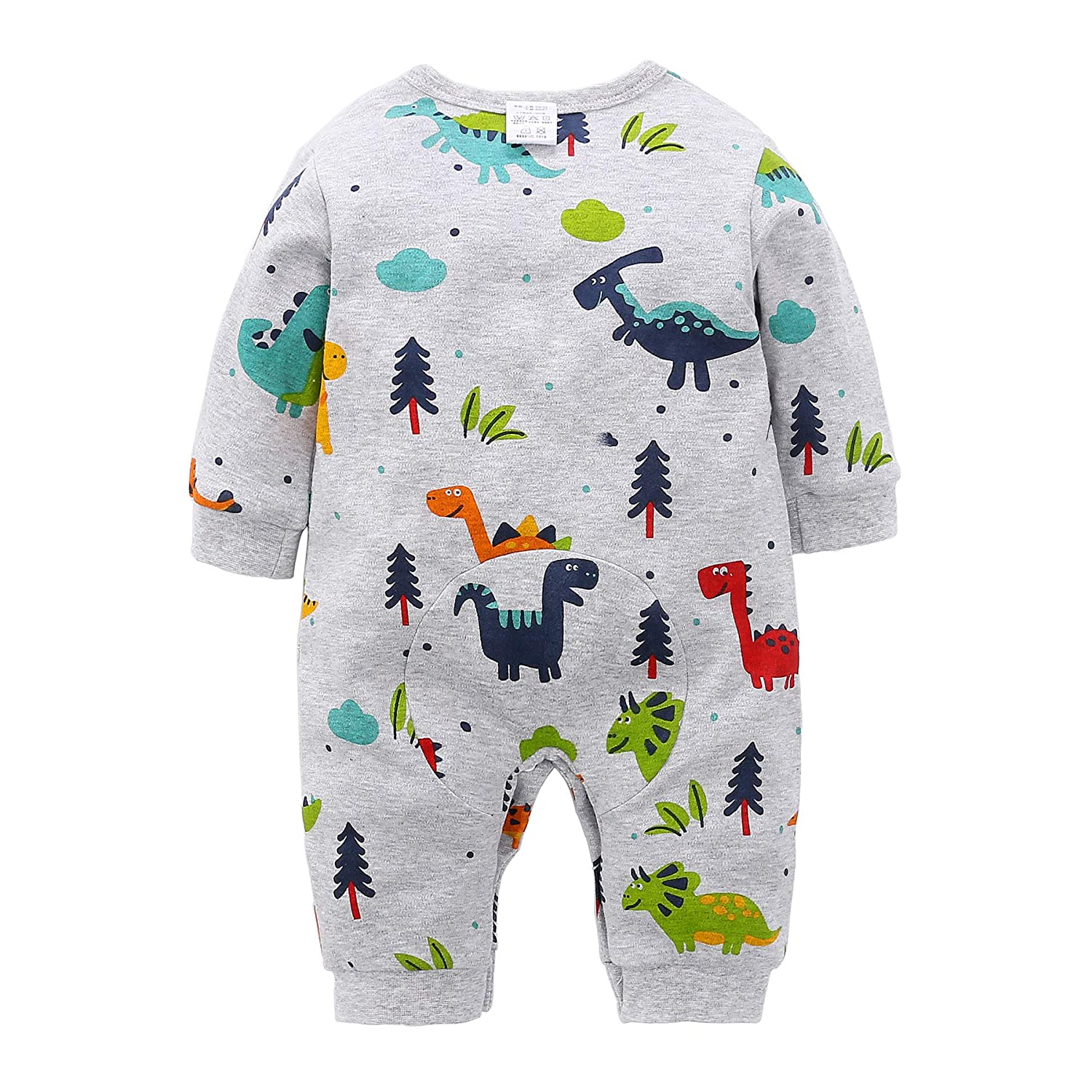 187040b14 Amazon.com: Beal Shopping Newborn Infant Baby Girl Boy Lovely Cartoon  Dinosaur Romper Jumpsuit Outfits Baby Clothes Bodysuit: Clothing