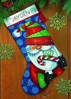 Amazon dimensions crafts needlepoint stocking kit snowman and bear dimensions crafts 71 09154 needlecraft sweet santa stocking in needlepoint solutioingenieria Images