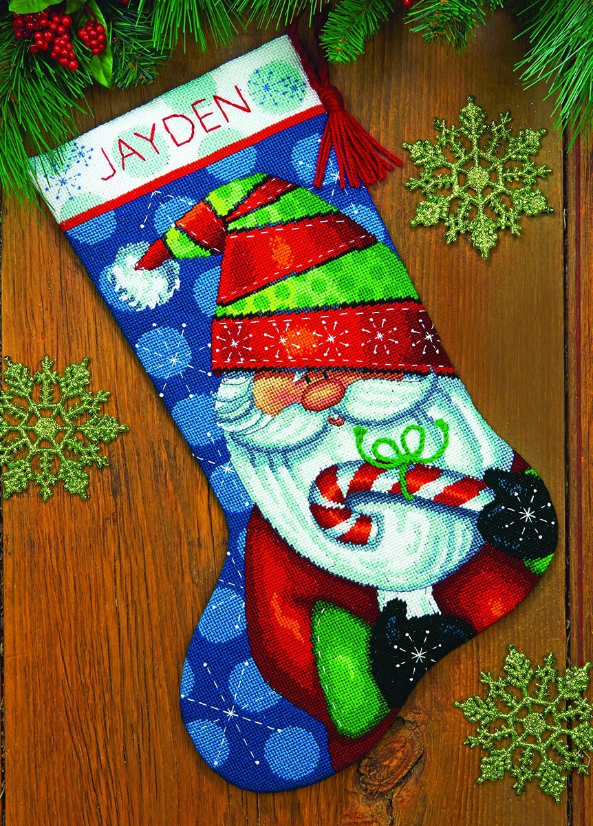 Dimensions Crafts 71-09154 Needlecraft Sweet Santa Stocking in Needlepoint IDEAL DESIGN ENTERPRISES CO. LTD