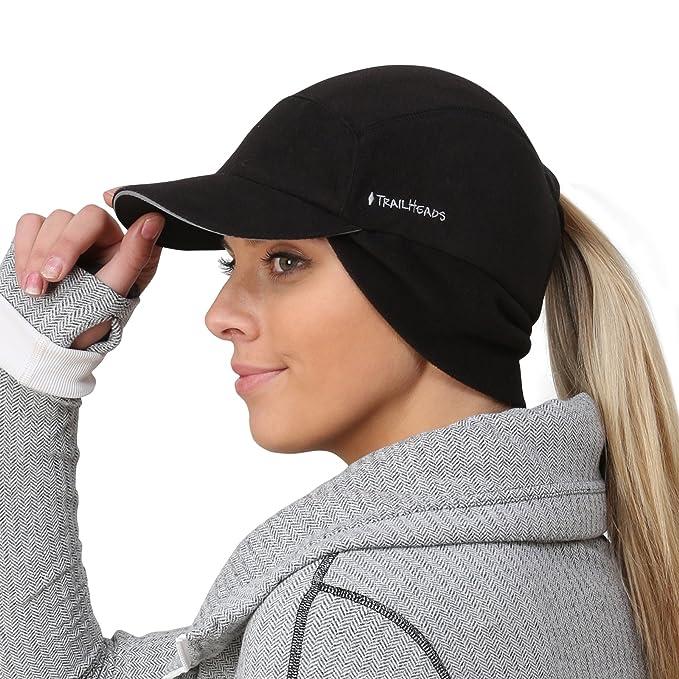 b5bcf784c TrailHeads Fleece Ponytail Cap with Drop Down Ear Warmer | The Trailblazer  Adventure Hat for Women