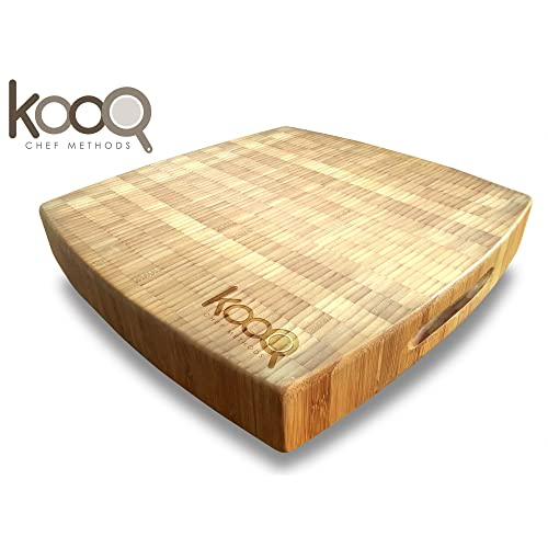 Kooq Large Bamboo Chopping Block with Feet
