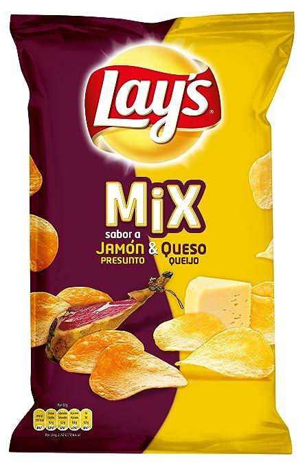 Lays Mezcla de Patatas Fritas con Sabor a Jamón y Queso - 170 gr