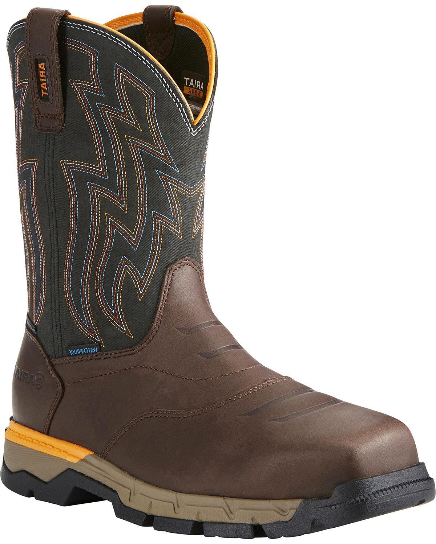 Ariat Men's Rebar Flex H2o Western Work Boot Composite Toe Brown 7.5 EE