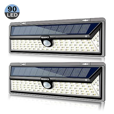 Amazon.com: AUSPICE Luces solares al aire libre, 90 LED 3 ...