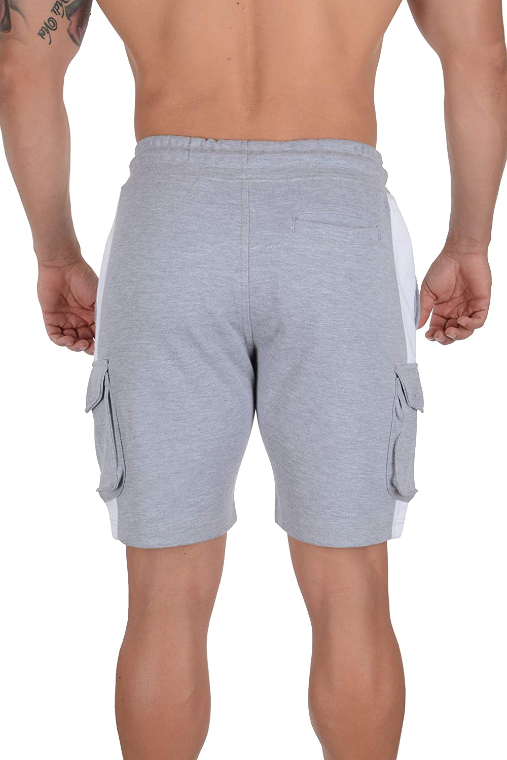 YoungLA Mens Cargo Gym Shorts Casual Workout Athletic Pockets 118