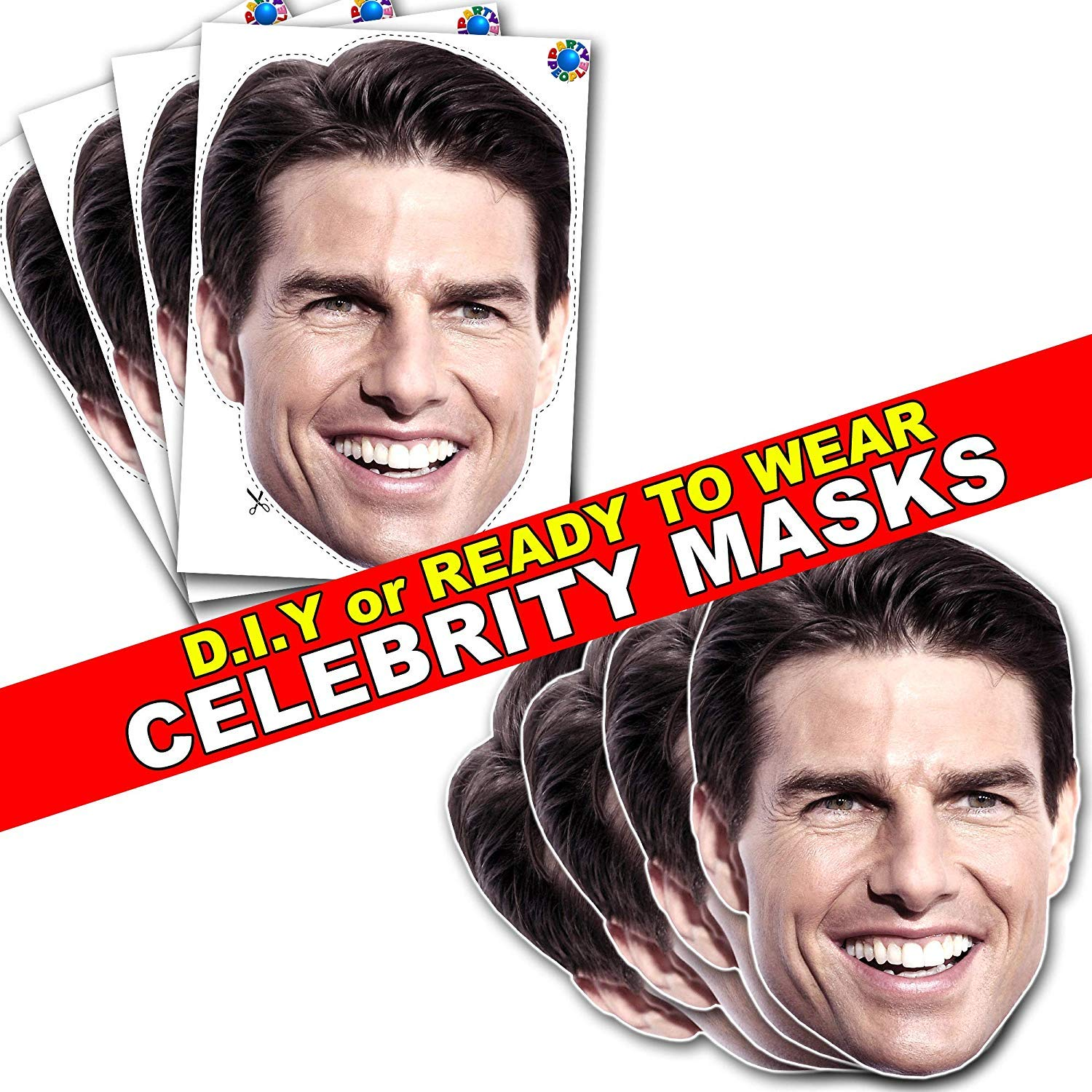 Larger Than Life mask. Celebrity Cutouts Tom Cruise Big Head