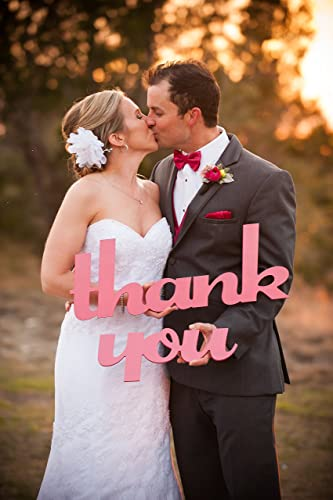 Thank You Sign Wedding Photo Prop For Card