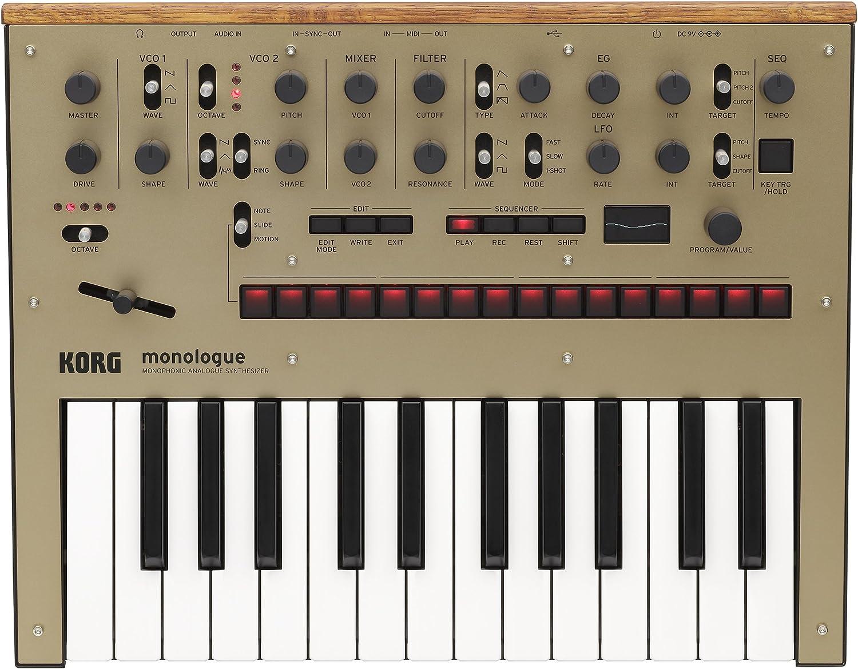 KORG MONOLOGUE DORADO sintetizador profesional de calidad