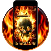 Fire Skull android Theme