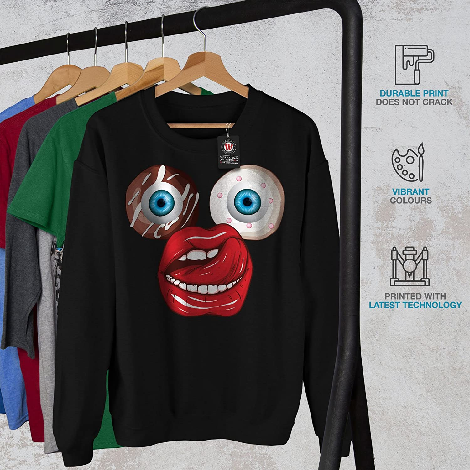 Sweet Casual Jumper wellcoda Donut Eye Junk Weird Mens Sweatshirt