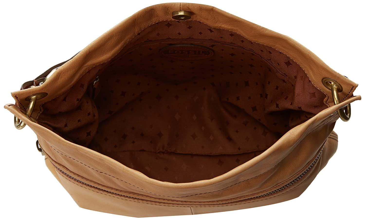 Fossil Explorer Hobo Shoulder Bag, Camel, One Size: Handbags ...