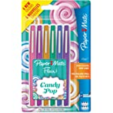 Paper Mate Flair Candy POP Pens, Medium Point, Assorted Colours, 6 Pack