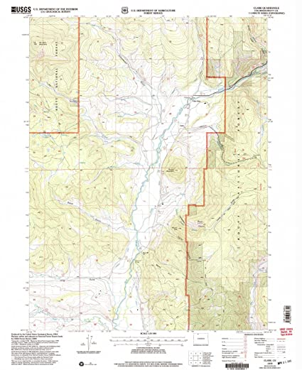 Clark Colorado Map.Amazon Com Yellowmaps Clark Co Topo Map 1 24000 Scale 7 5 X 7 5