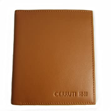 430496fb27 Amazon.com: CERRUTI 1881 Mens Brown Leather Wallet New: Clothing