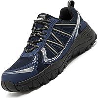 Zapatos de Seguridad,Punta de Acero Zapatos Ligero Zapatos de Trabajo Respirable Construcción Zapatos Reflexivo Botas de…