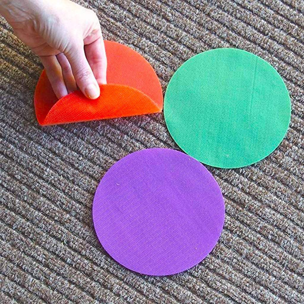 Pack of 48-76MM Rug Circles 4 Color Marker Dots for Preschool Luccase Round Classroom Magic Carpet Mark Its Sitting Spots to Educate and Elementary Teachers Kindergarten