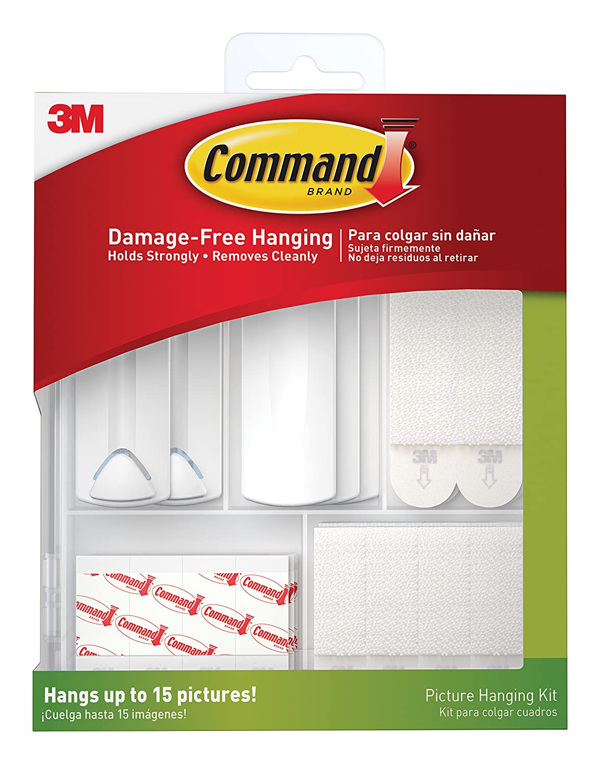 Command 17213 ES Kit Hangs up to 15 Pictures 38 Piece White