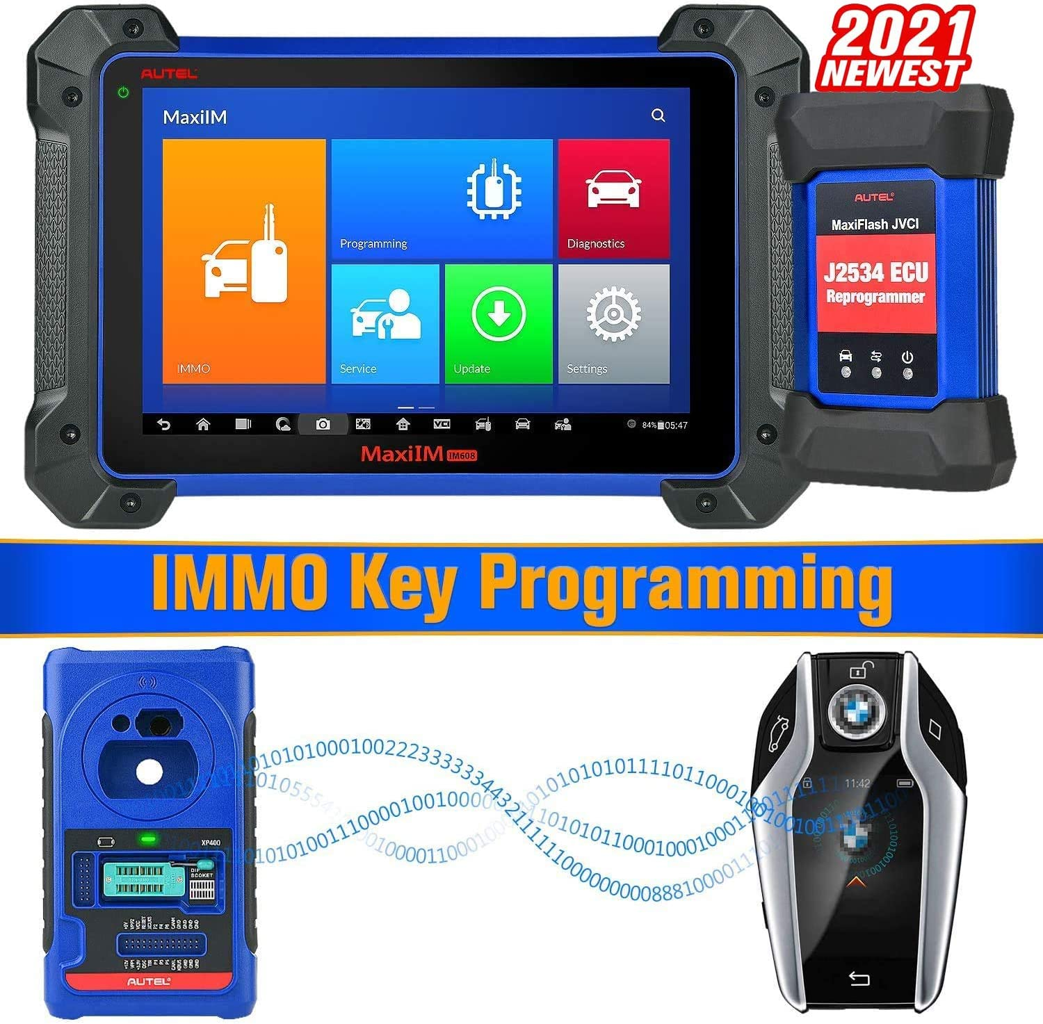 Amazon.com: Autel MaxiIM IM608 Advanced Key Programming Tool 2021 New Model  with IMMO & Key Programmer XP400 & J2534 Reprogrammer, Bi-Directional Scan  Tool & 30+ Services and All Systems Diagnosis (US ONLY):