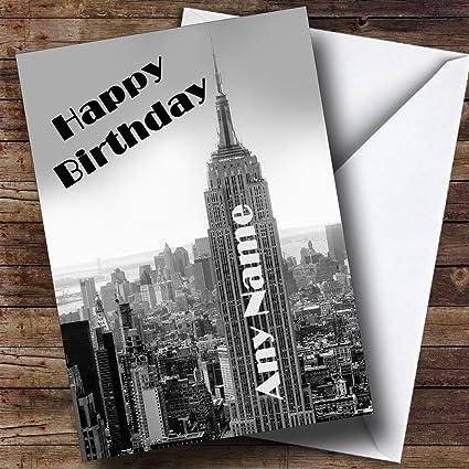 Diseño de Nueva York Empire State Building Tarjeta de felicitación ...