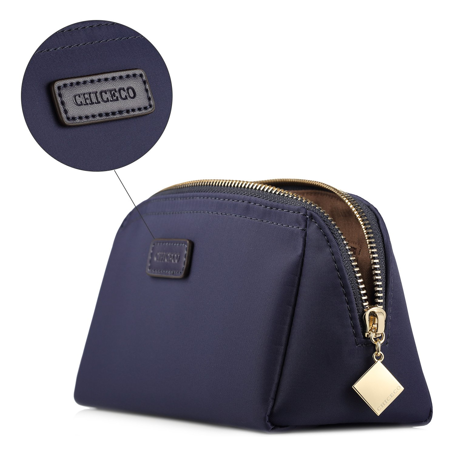 CHICECO Handy Cosmetic Pouch Clutch Makeup Bag - Navy Blue by CHICECO (Image #6)