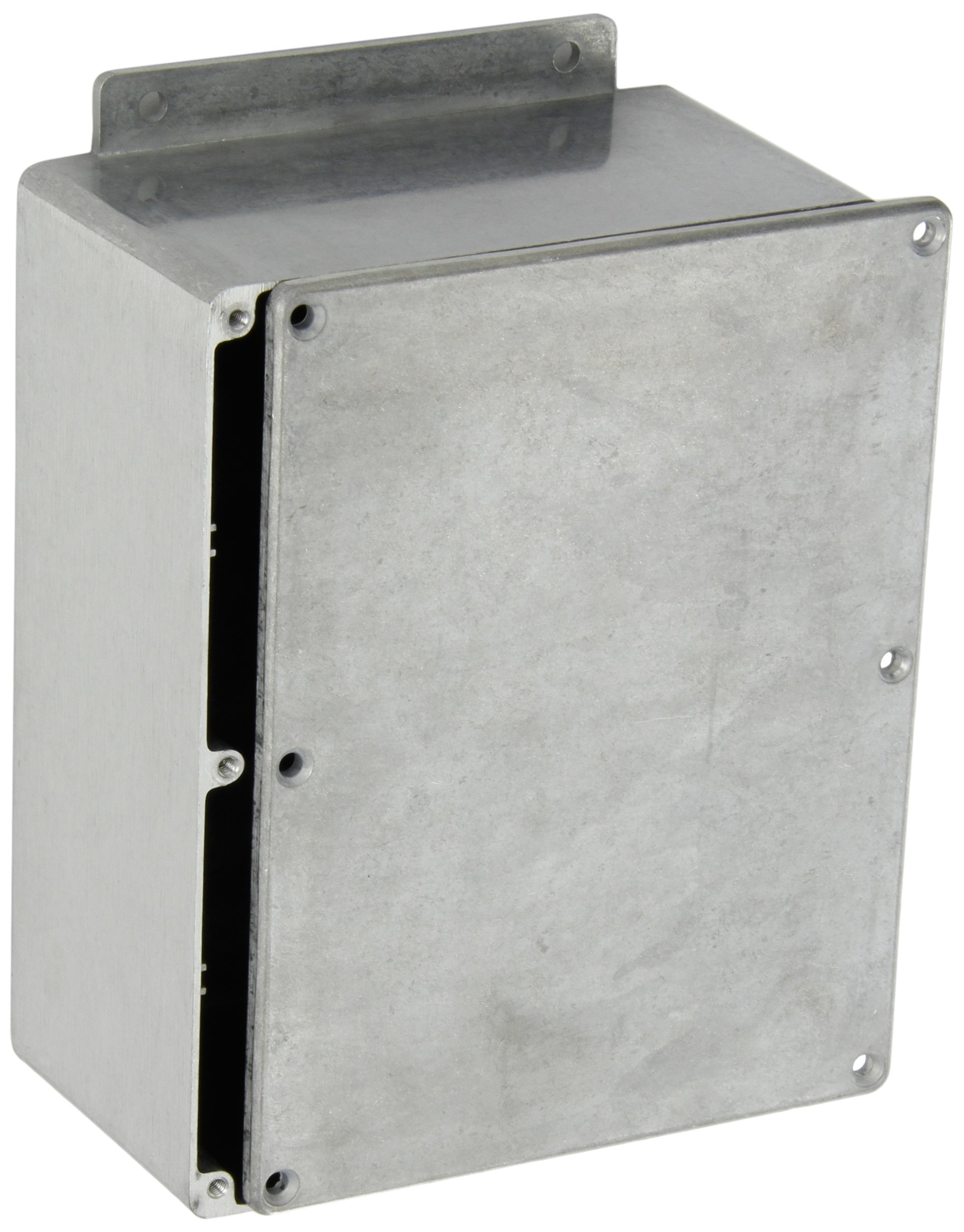 BUD Industries CN-6708 Die Cast Aluminum Enclosure with Mounting Bracket, 6-1/2'' Length x 5'' Width x 3-3/64'' Height, Natural Finish
