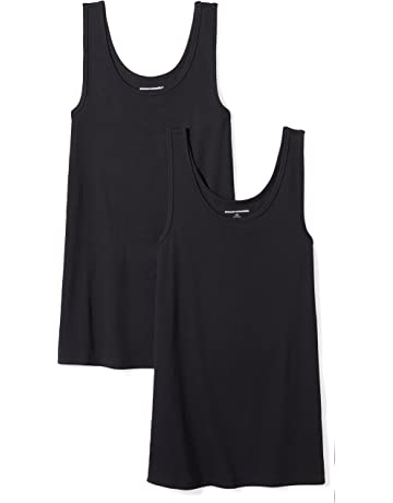 d01e42f9590 Amazon Essentials Women's 2-Pack Slim-Fit Tank