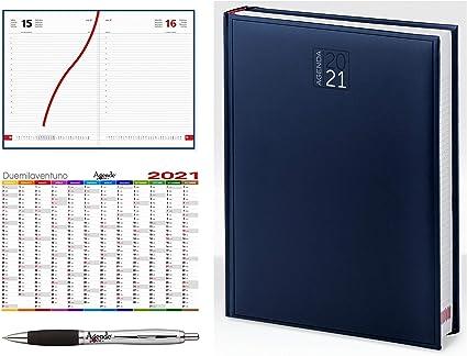 Agenda giornaliera 2021 A4 (21x30) AGENDEPOINT.IT®   sabato e