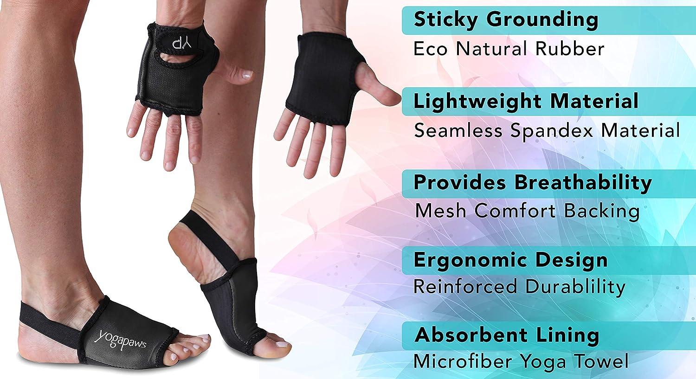 Amazon.com: YogaPaws SkinThin - Guantes y calcetines de yoga ...
