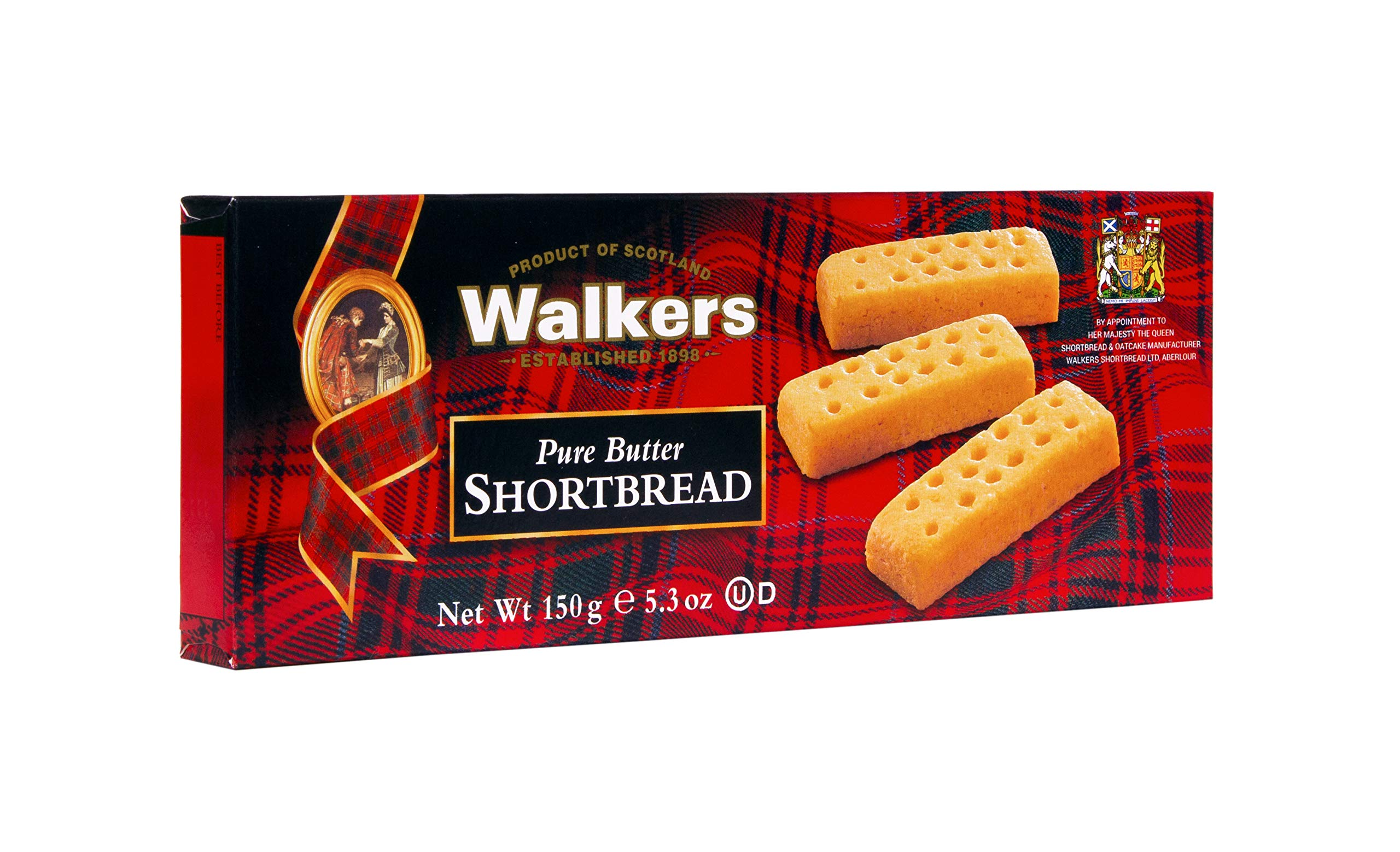 Walkers Shortbread Fingers, 5.3-oz. Boxes (Count of 6), Traditional and Simple Pure Butter Shortbread Cookies from the Scottish Highlands, Made with Quality Ingredients, Free from Artificial Flavors by Walkers Shortbread