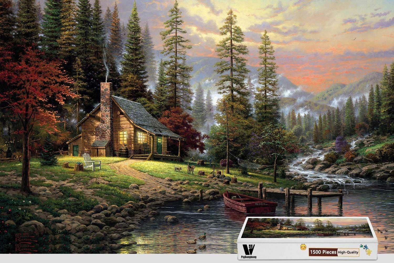 人気満点 pigbangbang、34.4 X 22.6インチ –、ハード木製ボックスで有名な絵画明るいカラフルな B07FRWH8P6 秋グリーン – 秋グリーン – 1500ピースジグソーパズル B07FRWH8P6, 史上一番安い:f46f0375 --- 4x4.lt