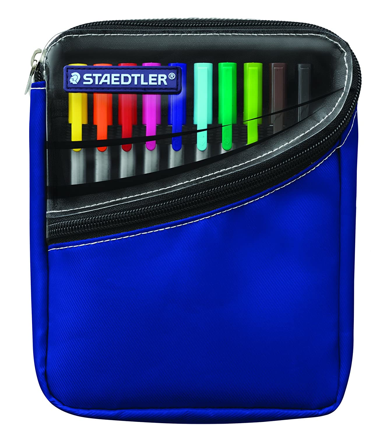Staedtler Staedtler Triplus Fineliner Pens, Pack of 10, Assorted Colors  (334SB10): Amazon.co.uk: Office Products