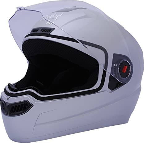 37f9799ff Steelbird Air SBA-1 Glossy Full Face Helmet (Silver