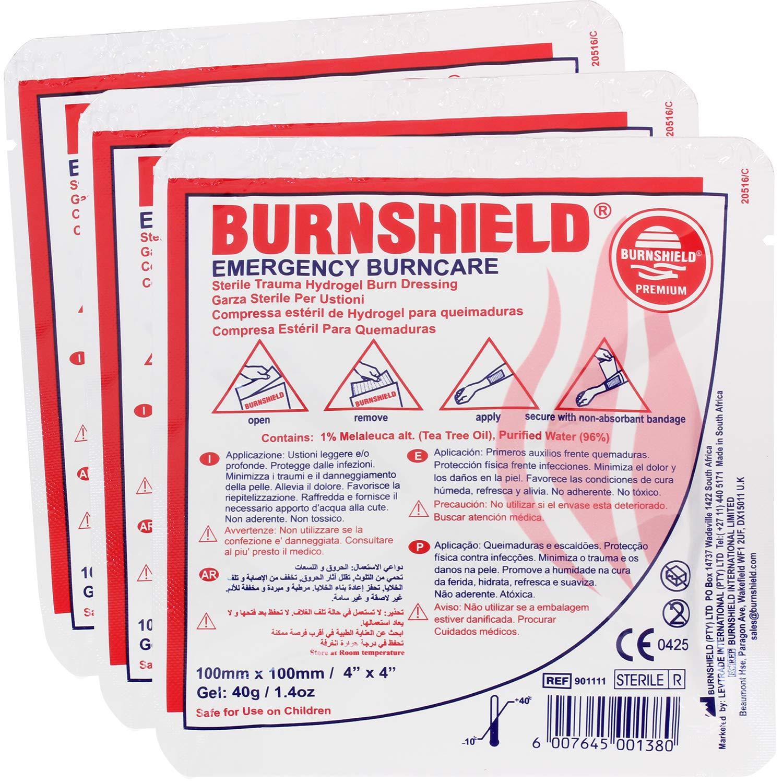 """Burnshield 4"""" X 4"""" Burn Dressing, Sterile (Pack of 3)"""