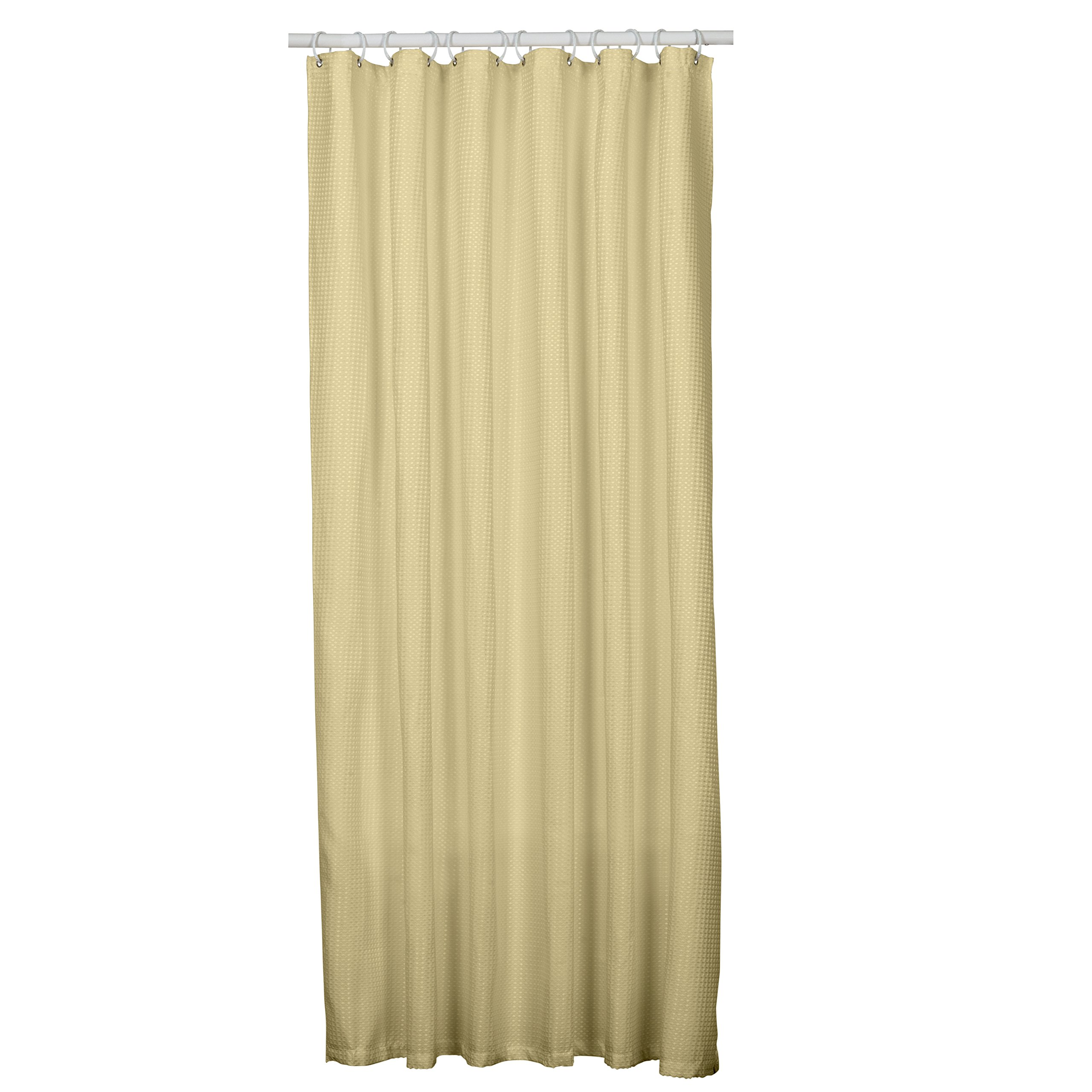 Zenna Home H21BB, Luxury HotelWaffle Weave Shower Curtain, 70 in x 72 in, Taupe