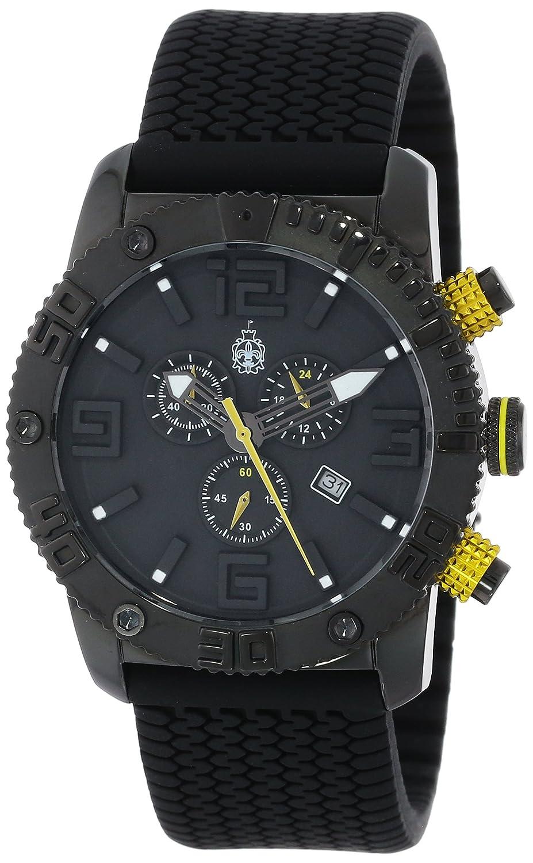 Burgmeister BM521-622A - Reloj analógico de Cuarzo para Hombre con Correa de Silicona, Color Negro