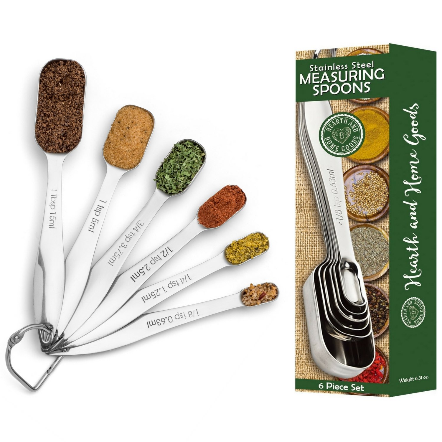Measuring Spoons - Accurately Measure Liquid and Dry Ingredients