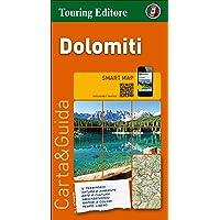 Dolomitas, mapa de carreteras impermeable. Escala 1:200.000. Touring Club Italiano. (Smart map)