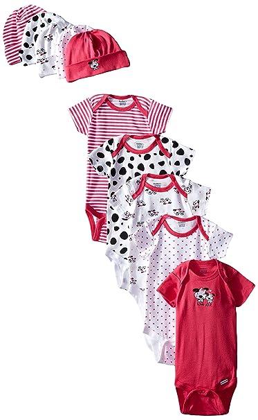 c54e38d275 Amazon.com  Gerber Baby-Girls Newborn Dalmatian Onesies and Cap Bundle