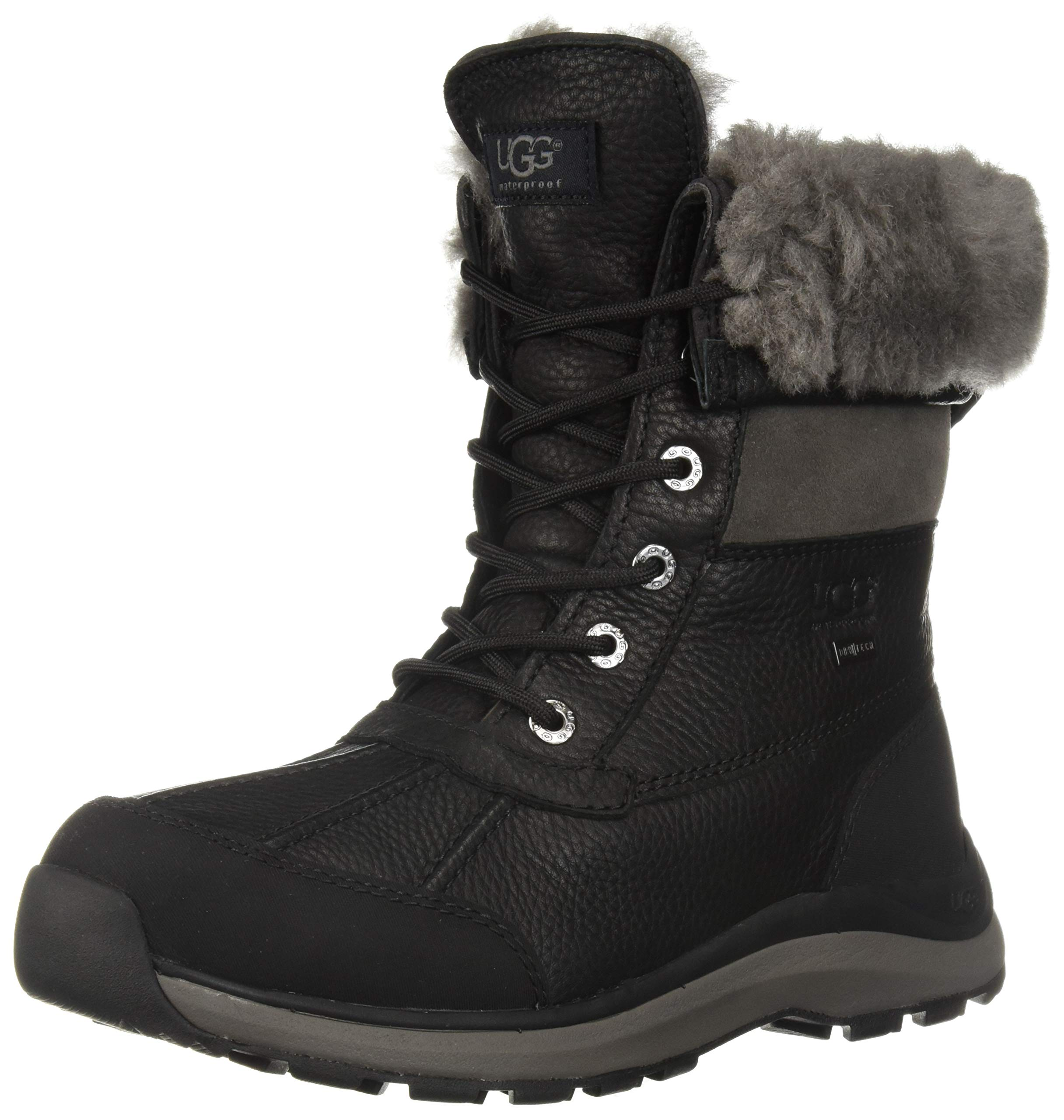 UGG Women's W ADIRONDACK BOOT III Snow, black, 9 M US by UGG