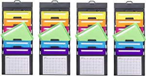 Smead Cascading Wall Organizer, 6 Pockets, Letter Size, Gray/Bright Pockets, Sold as 4 Pack (92060)