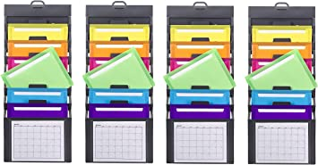 Letter Size 92060 Smead Cascading Wall Organizer 6 Pockets Gray//Bright New