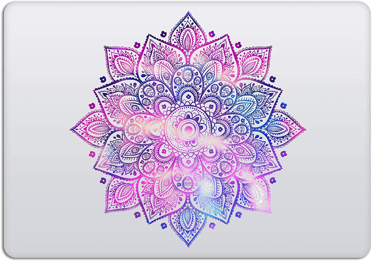 Laptop Stickers MacBook Decal - Removable Vinyl - Mandala Purple Blue Decal Skin for Apple MacBook Air Pro 13 15 inch Mac Retina - Best Decorative Sticker by Artsybb